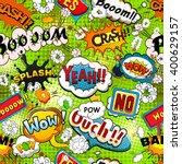 bright comics speech bubbles on ... | Shutterstock .eps vector #400629157