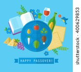 passover jewish holiday design... | Shutterstock .eps vector #400629853
