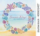 seashell round multicolored... | Shutterstock .eps vector #400631407