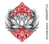 vector black and red tattoo... | Shutterstock .eps vector #400649713