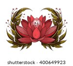 vector red lotus illustration | Shutterstock .eps vector #400649923