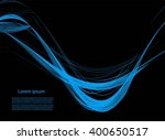 abstract background with smooth ... | Shutterstock .eps vector #400650517