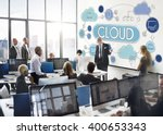 cloud computing network data... | Shutterstock . vector #400653343