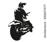 chopper motorbike  motorcycle... | Shutterstock .eps vector #400657477