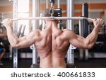 muscular body building men... | Shutterstock . vector #400661833