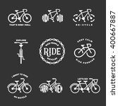 bicycle related typography set. ... | Shutterstock .eps vector #400667887
