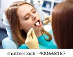 overview of dental caries...   Shutterstock . vector #400668187