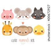 Set Of Six Illustration Of Cut...