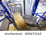 conveyor belt in a modern... | Shutterstock . vector #400674163