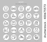 modern thin line of icons on... | Shutterstock .eps vector #400675573