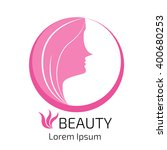 abstract logo women head with... | Shutterstock .eps vector #400680253