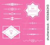 set calligraphic elements and... | Shutterstock .eps vector #400686343