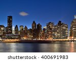 a night view of the new york... | Shutterstock . vector #400691983