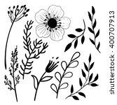 set of blob brush drawn... | Shutterstock .eps vector #400707913