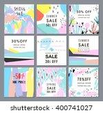 sale posters. vector... | Shutterstock .eps vector #400741027