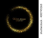 vector frame with gold sparkles | Shutterstock .eps vector #400745263