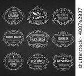 calligraphic design elements .... | Shutterstock .eps vector #400762837