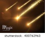 shooting star vector background.... | Shutterstock .eps vector #400762963