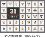 set of farm animals icons.... | Shutterstock .eps vector #400766797
