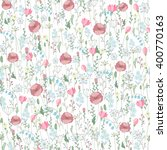 Vector Vintage Seamless Floral...