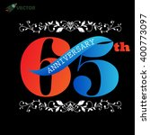 65th years anniversary label... | Shutterstock .eps vector #400773097