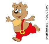 the bear is a cartoon character.... | Shutterstock .eps vector #400777297
