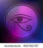 vector horus eye illustration... | Shutterstock .eps vector #400782787