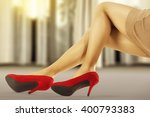 woman legs floor and window... | Shutterstock . vector #400793383
