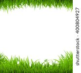 green grass borders  vector...   Shutterstock .eps vector #400804927