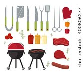barbecue design elements and... | Shutterstock .eps vector #400806277