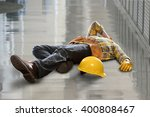 injured construction worker... | Shutterstock . vector #400808467