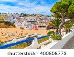 promenade along street in... | Shutterstock . vector #400808773
