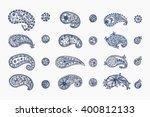 floral design elements set.... | Shutterstock .eps vector #400812133