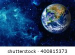 view of the earth from the moon.... | Shutterstock . vector #400815373