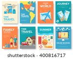 tour of the world vector... | Shutterstock .eps vector #400816717