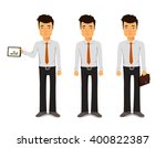 handsome young businessman | Shutterstock .eps vector #400822387