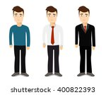 young men in different clothes | Shutterstock .eps vector #400822393