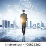 caucasian businessman in black... | Shutterstock . vector #400826263