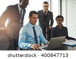 group of diverse business... | Shutterstock . vector #400847713