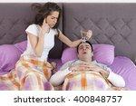 snoring man problem | Shutterstock . vector #400848757