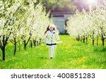 portrait of little pretty girl... | Shutterstock . vector #400851283
