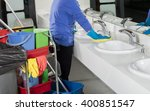 cleaning sink with duster   Shutterstock . vector #400851547