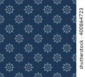 seamless sea pattern. nautical... | Shutterstock .eps vector #400864723