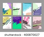 set of hand drawn universal... | Shutterstock .eps vector #400870027