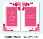 wedding invitation  thank you... | Shutterstock .eps vector #400890727