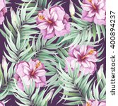 seamless pattern with tropical... | Shutterstock . vector #400894237
