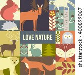 forest animals made in... | Shutterstock .eps vector #400899067