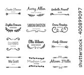 unique handdrawn logo template... | Shutterstock .eps vector #400899097