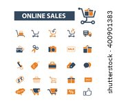 ecommerce icons  | Shutterstock .eps vector #400901383