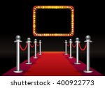 magic red carpet loop with... | Shutterstock .eps vector #400922773